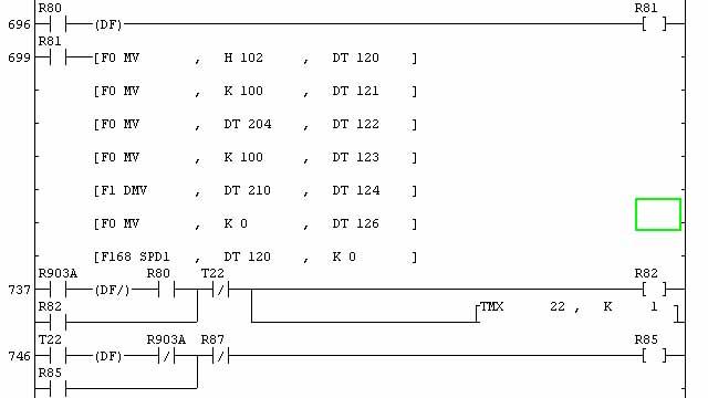 还有,正反转不用直接控制y输出的吧,你直接把正,负数丢给f168指令,它