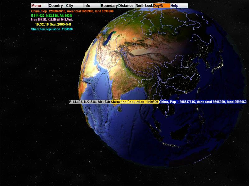 三维世界地图