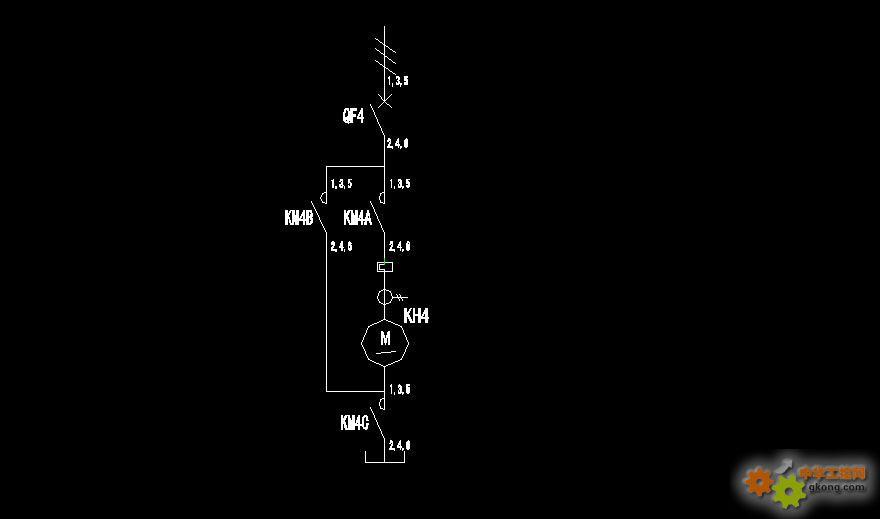 三菱plc星三角启动正反转图纸