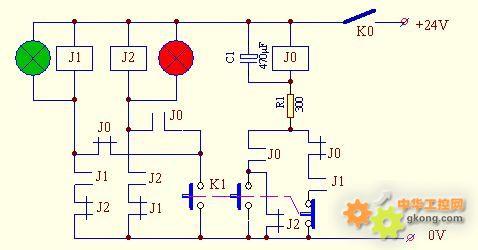 在讲解电路动作原理前,先分析一下j0继电器与r1,c1组成的延时电路的