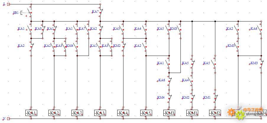 求救:一只按钮控制两台电机正反转 - 电工技术 中华网