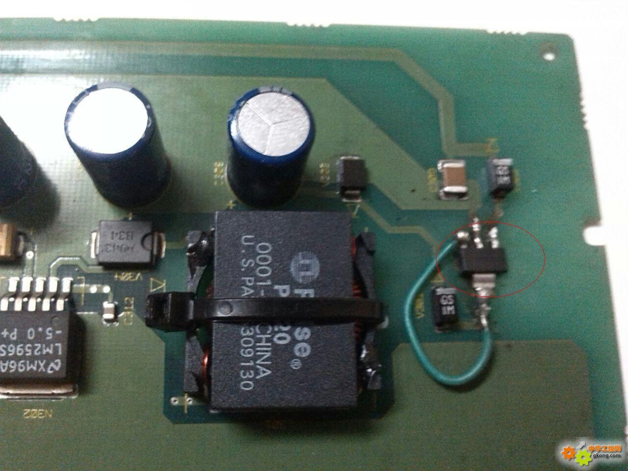 """西门子s7-200plc电源板上有个""""gs1m""""二极管爆掉"""