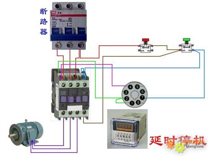 气控制电路实物接线图图片