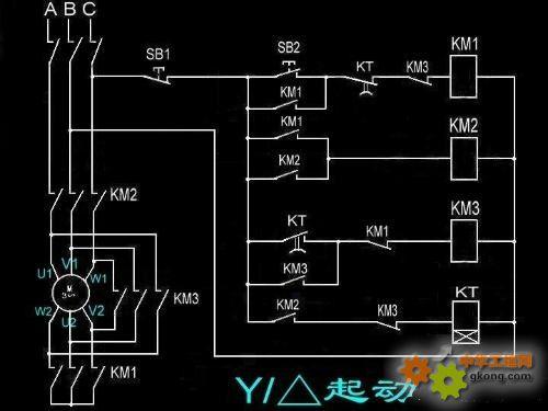 星三角启动的接线方式 接进电机六条线有几种方法接