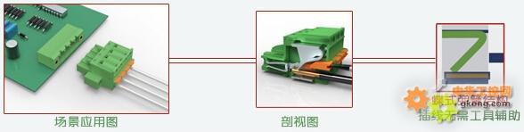 插拔式接线端子可提供多种接线方式,便于安装与维修,安全且节约接线时间,可提供多种间距的产品,广泛应用在电气,电力,轨道交通与控制器等等行业。 该系列端子结构简单,由绝缘外壳与五金件组成,分为插头与插座,作为端子行业的专业制造商,联捷电气已逾15年的生产经验,在不断创新发展中,逐步整合出插拔式接线端子的特色产品,致力于将最佳的联接方案提供给客户。 针对插拔式端子而言,常见的结构有三种:框式升降结构、滑块式压线结构和蝶式弹簧结构。 1、框式升降结构(如图)