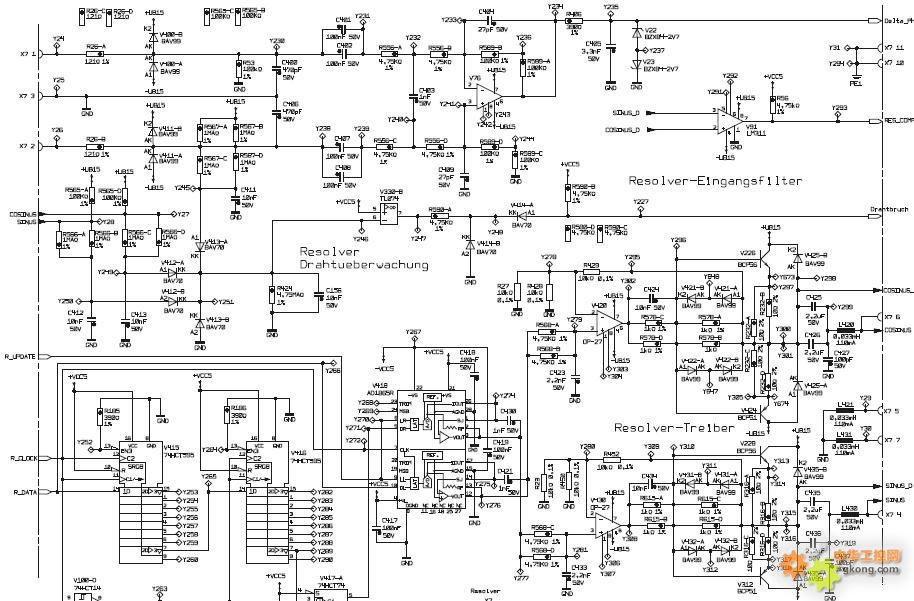 伦茨9300系列变频器旋转变压器信号驱动疑问