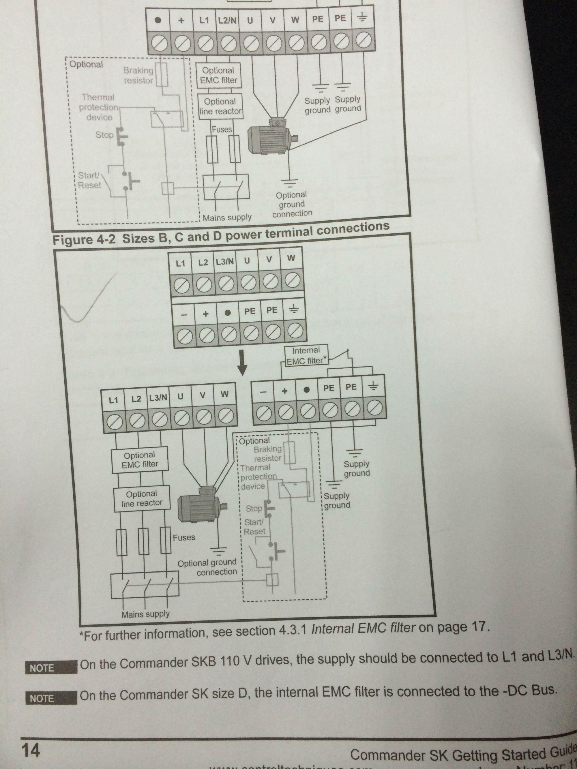 我的三相电机星接,图片来源变频器