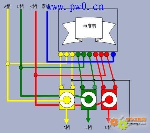 三相四线电表如何接线