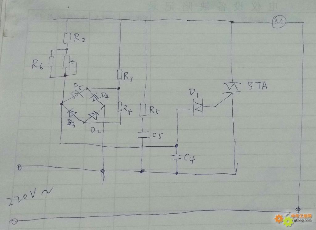 这是一个豆浆机调速电路图,我是根据电路板画出来的(电路板中没有电机