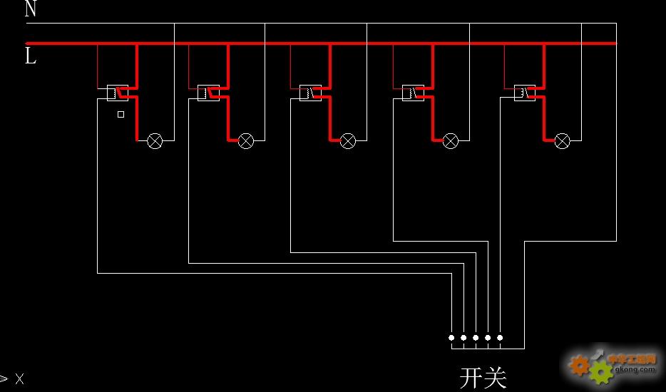 车间用继电器接灯线问题