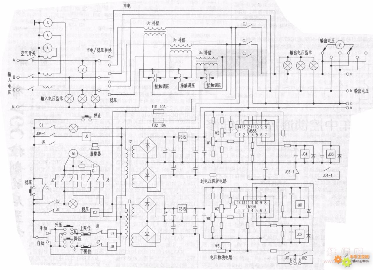 sbw-100kva大功率稳压器电路图