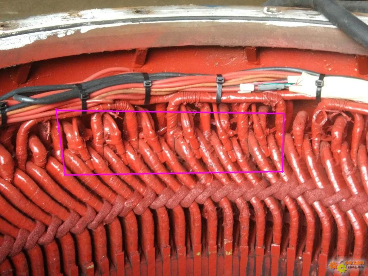 刚修的400KW/10KV电机扫膛