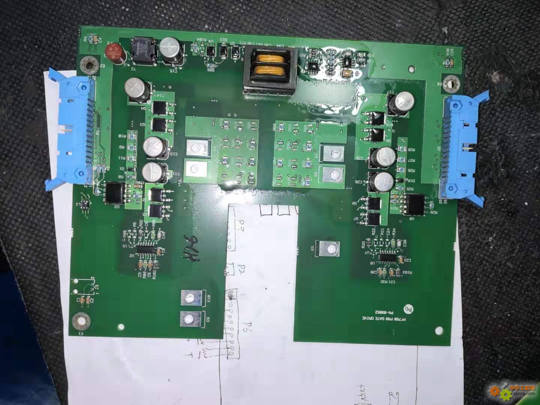 没修好的一台ab755变频器