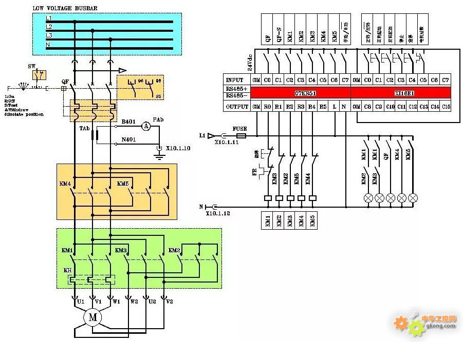 PLC控制电动机星三角启动,这张图错在哪里?