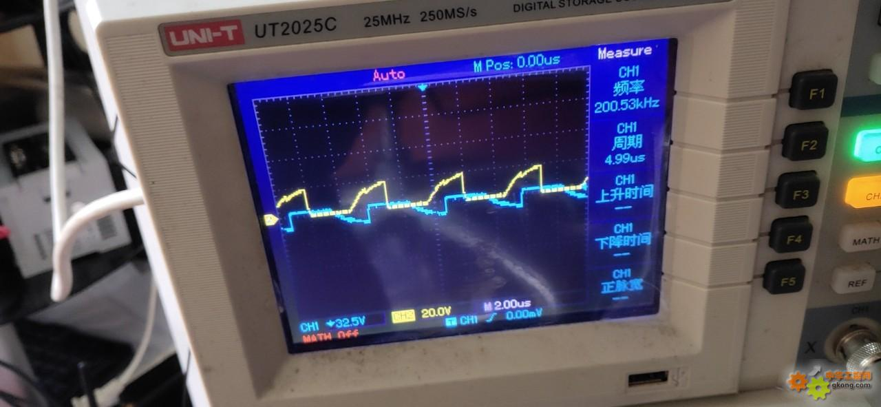 PLC脉冲输出波形失真?