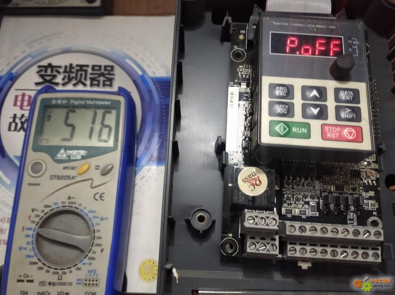 英威腾GD100/5.5kw变频器上电报欠压