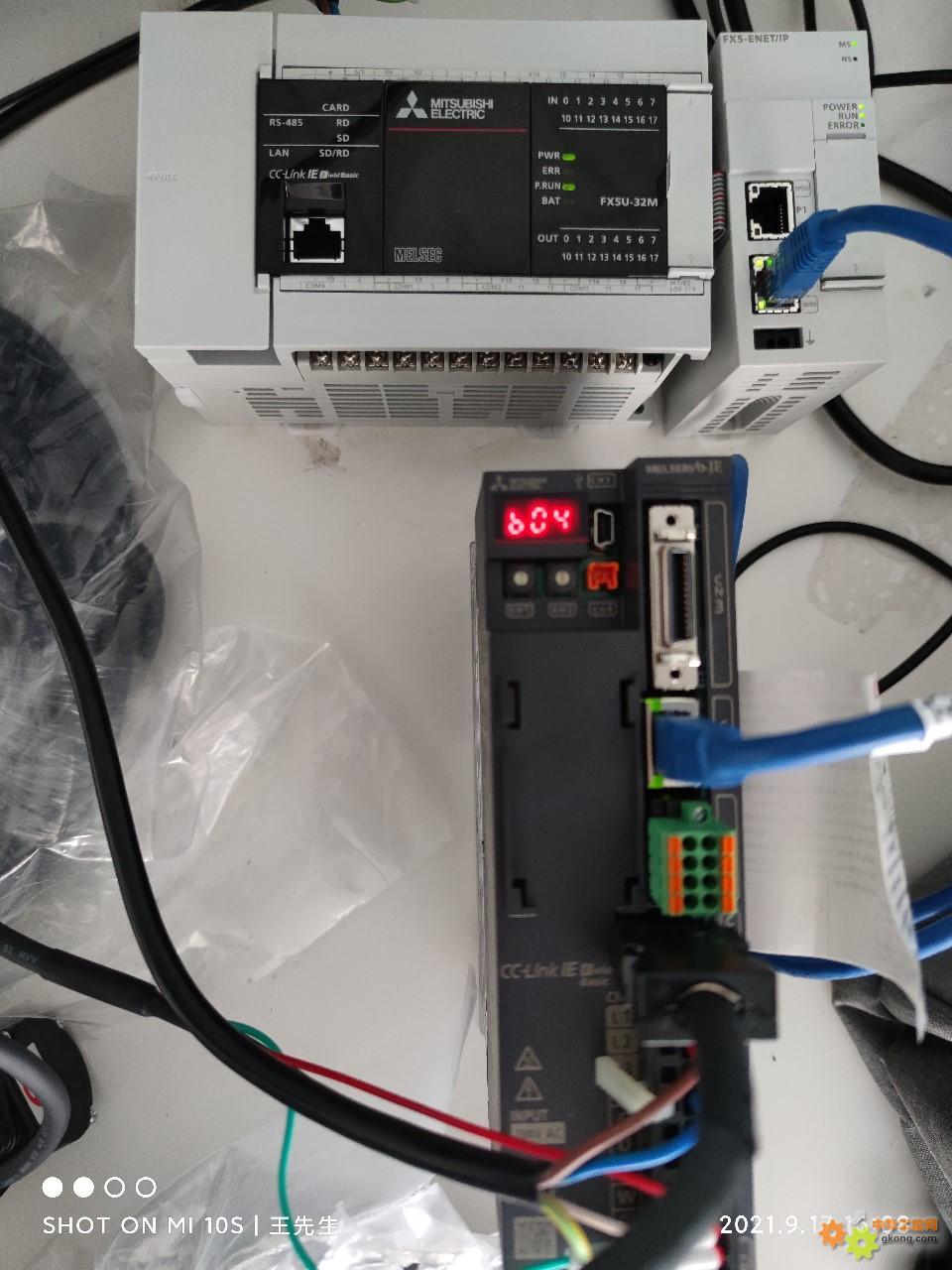 想使用fx5-enet/ip 走cc-link 控制一个伺服