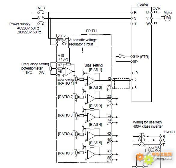 用于变频器同步控制的比率设定同步控制器
