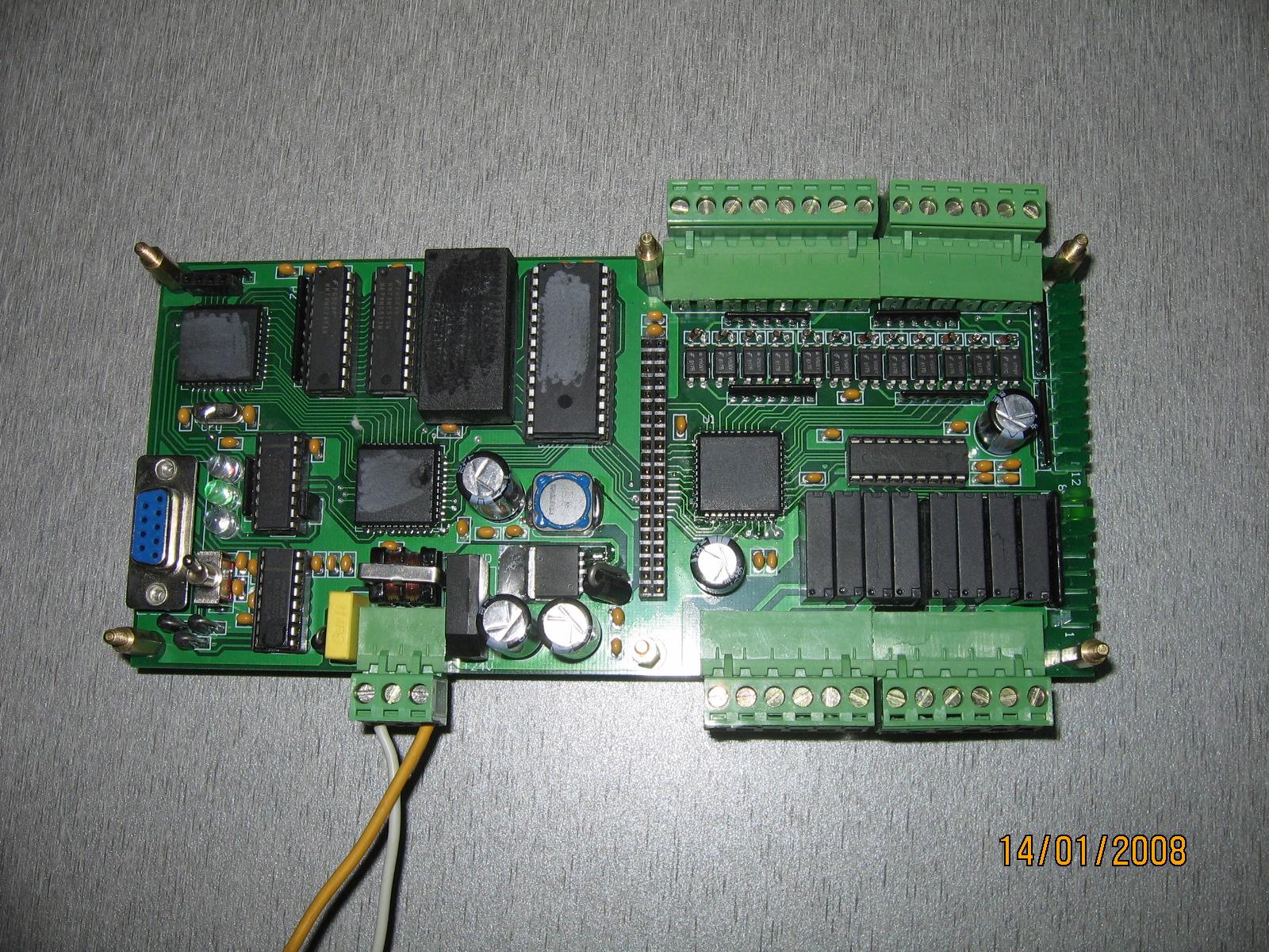 plc内部电路板示意图
