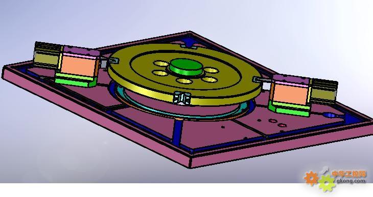 转盘分度的精密定位机械图
