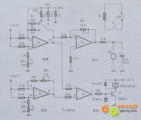 测温控温电路原理分析   电子发烧友网; ptc热敏电阻经典应用; 热敏