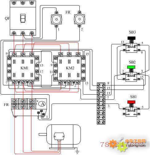 电动机正反转控制电路接线图