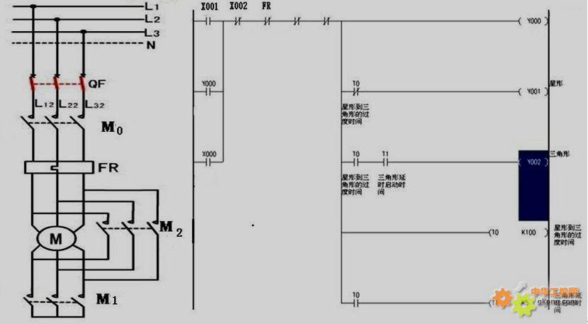 三菱plc梯形图L代表什么意思
