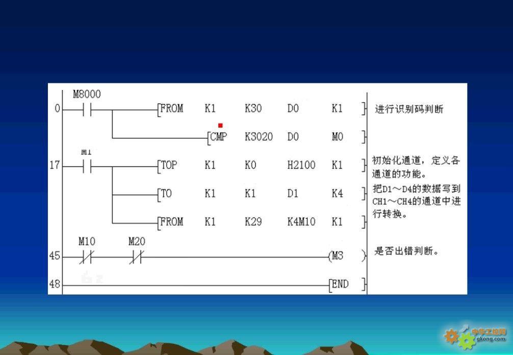 fx2n-4ad和fx2n-4da两个模块的应用程序怎么写?