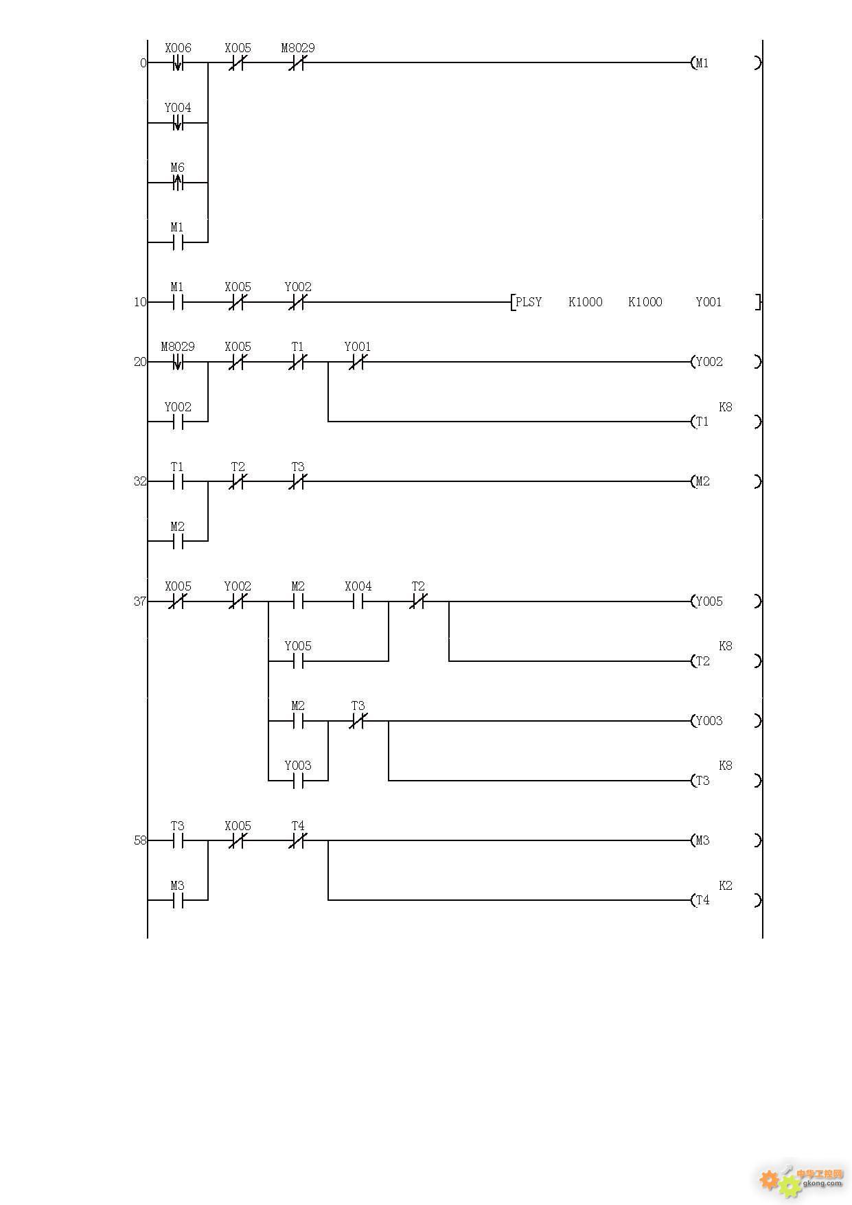 谁有plc编程实例 三菱PLC