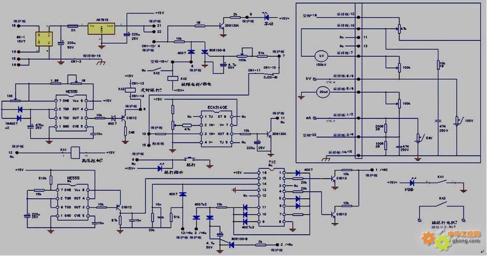 水泥厂静电除尘器整机电路图
