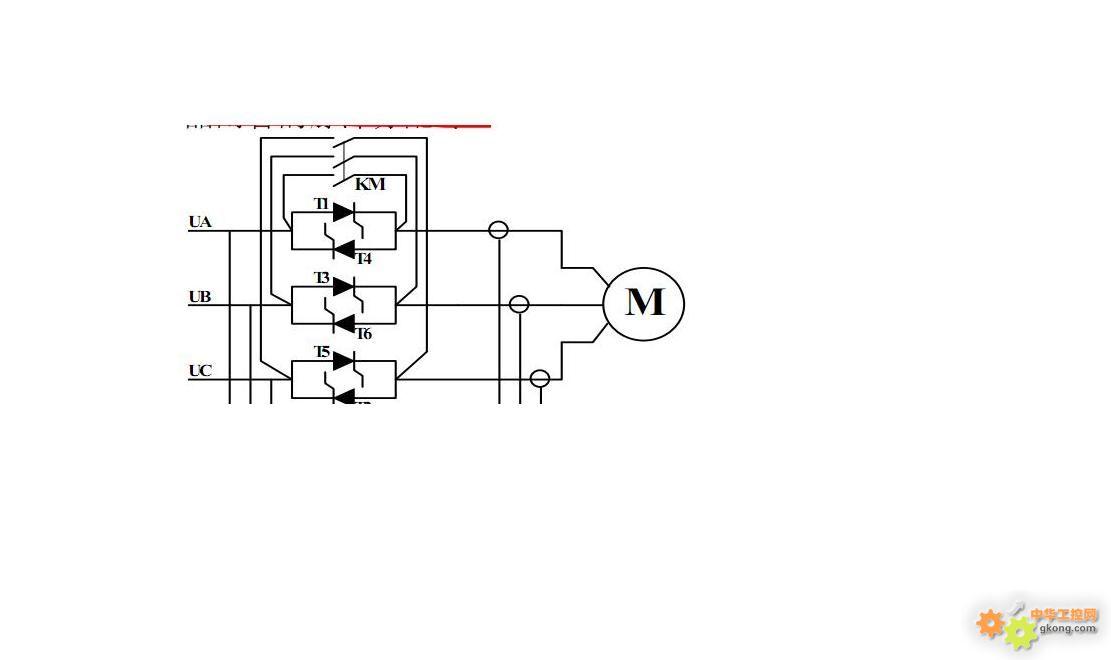 在交流调压电路中触发角小于续流角时每只晶闸管