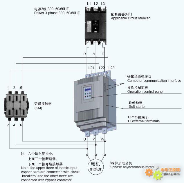 电源通过旁路接触器送到输出端,会不会损坏变频器或软