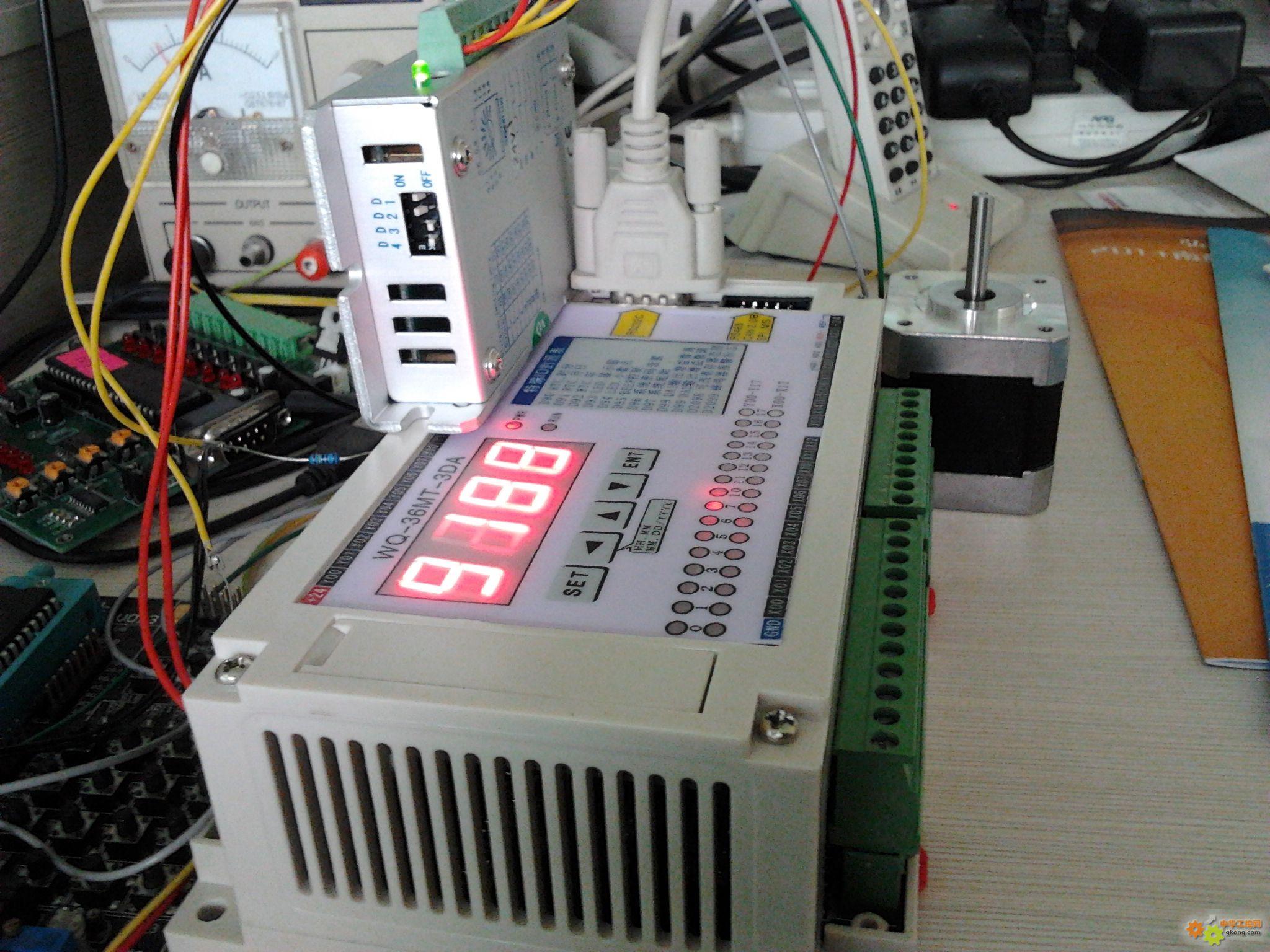 自己做的plc高速脉冲驱动步进电机,正反转加减速功能