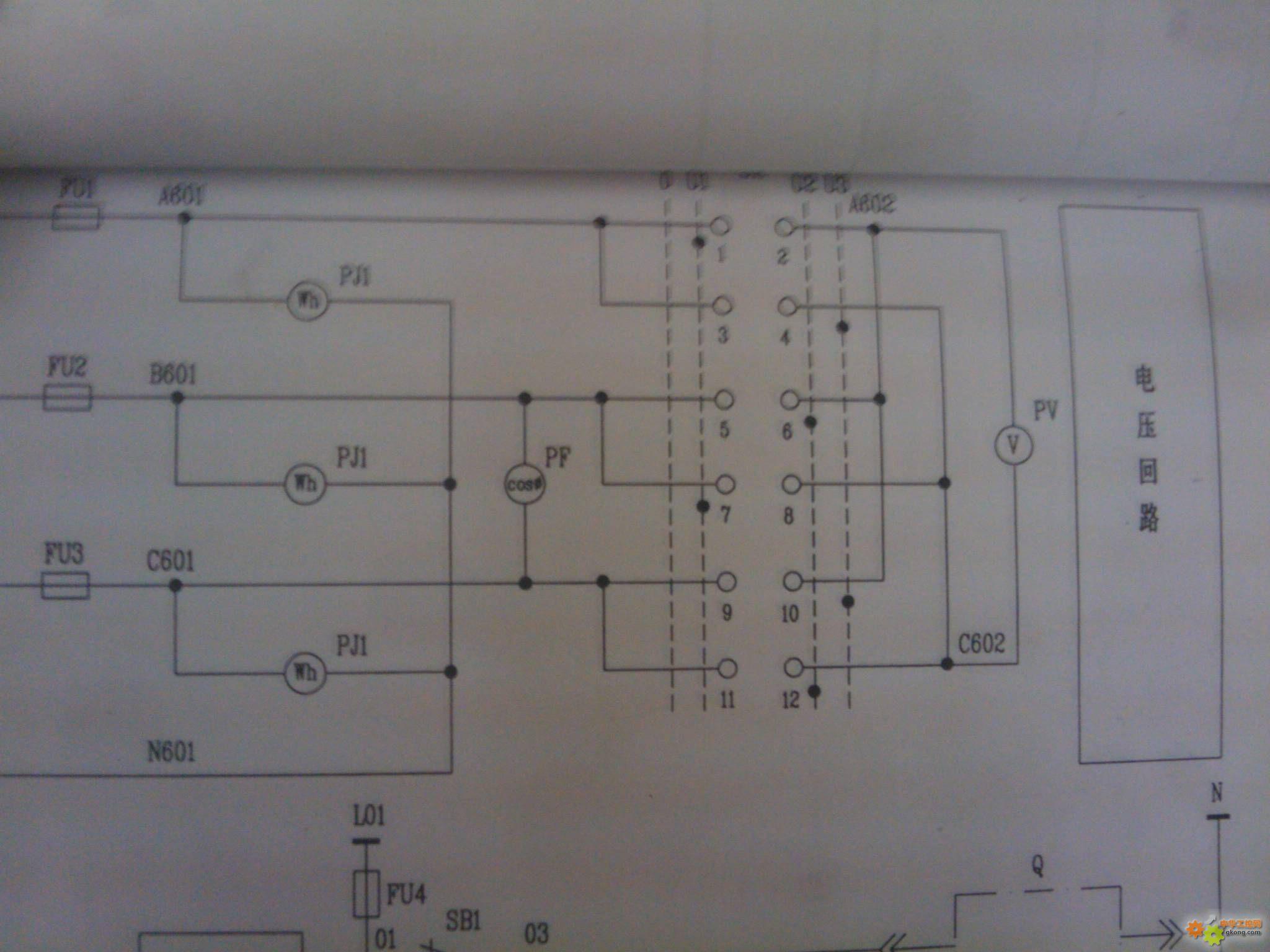 高压柜图纸里有看不懂