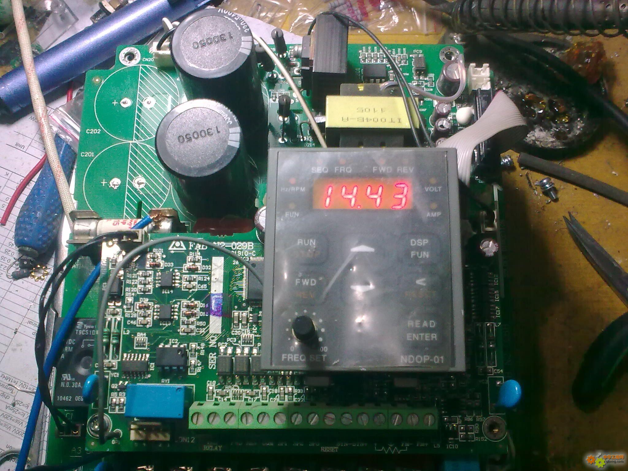 台安n2变频器问题请教各位老师