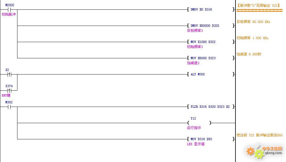我用国产plc驱动3轴步进电机正反转,加减速的方法,含梯形图等资料