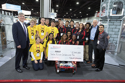 FIRST and Rockwell Automation with check