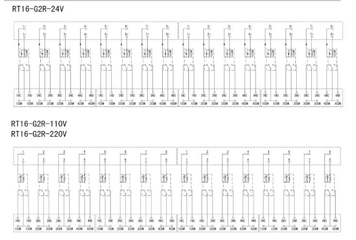 ·控制电压dc24v, ac110v及ac220v, 1c触点的各种规格产品.
