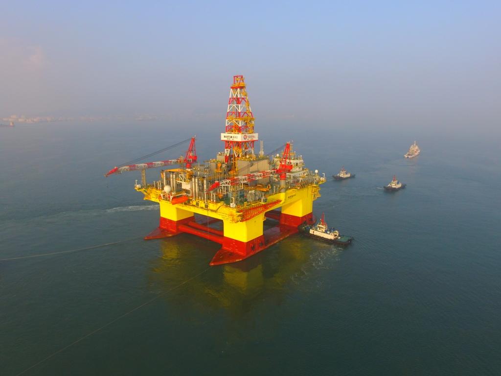 """新闻图片_西门子助力大船海工""""海洋石油982""""钻井平台DP3闭环短路试验一次成功"""