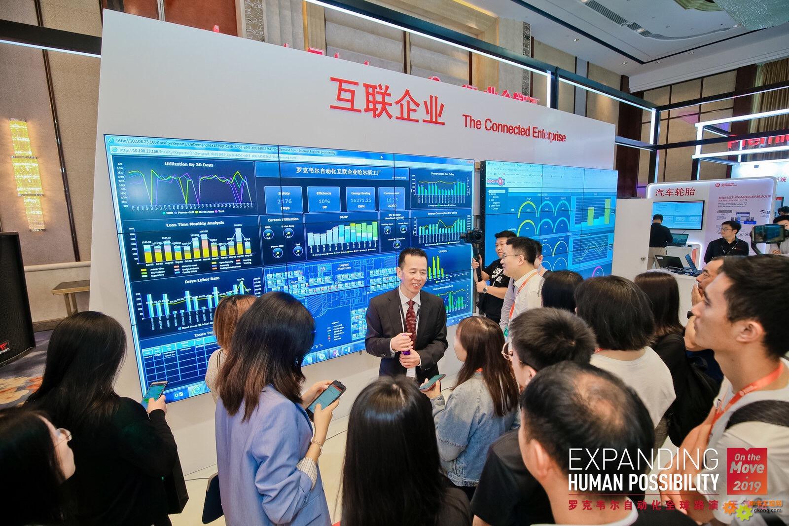羅克韋爾自動化全球路演天津站 展廳照片1