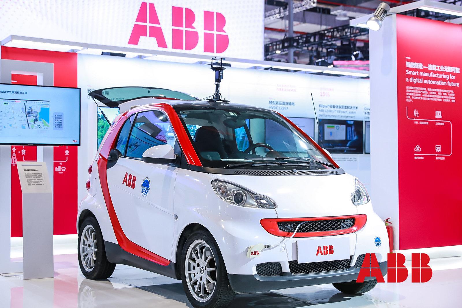 装载ABB Ability™高精准燃气泄漏检测系统的检测车