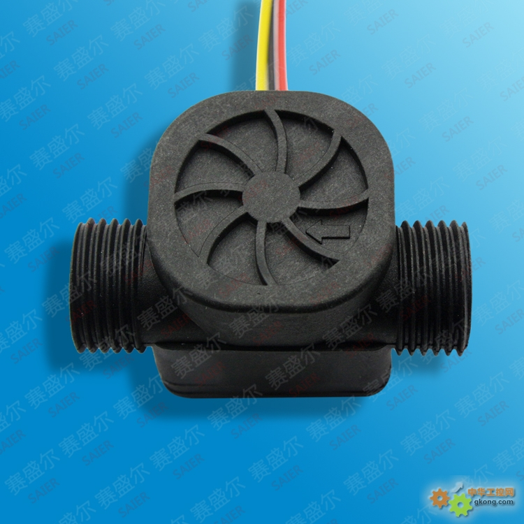 SEN-HZ21WA款参数:4分管,G1/2外牙,一字型结构,尼龙加玻纤,防水防爆,耐热耐冷,4分塑料水流量传感器,热水器水流传感器,规格:58*38*38mm, 可作水流开关使用,同时也可用来计量流量,分为两种系列,三线联接:红色为正极,黑色为负极,黄色为脉冲信号,最大压力1.75mpa,流量1-30L/分如果要加温度控制传感器则为绿色,也可另接两线专门控制温度,连接线的长度和连接端子的类型可根据客户要求来设定。专业生产水流传感器和流量开关。 水流量传感器主要用于燃气热水器、电热水器、洗衣机、售水机、壁