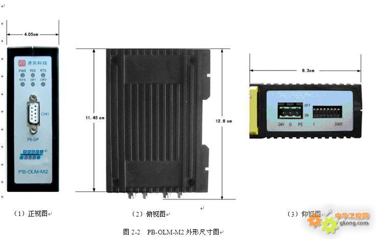 (3).没有用到的光纤接口要用保护套,以免损坏。 6、指示灯  总电源指示灯PWR,绿色 亮:DC 24V电源接通且设备内部电源正常; 灭:电源故障。  PROFIBUS通讯指示灯RXD,绿色 闪亮:PROFIBUS正常通讯时闪烁; 灭:不通讯。  光纤口1通讯指示灯OP1,绿色 闪亮:光纤口1正常通讯时闪烁; 灭:不通讯。  光纤口2通讯指示灯OP2,绿色 闪亮:光纤口2正常通讯时闪烁; 灭:不通讯。  PROFIBUS接收状态指示灯RTS,绿色 在建立PROFIBUS通讯前RTS灯常亮,当P