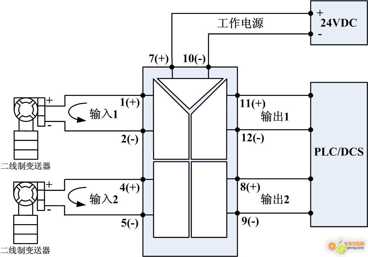 1、XP系列隔离配电器概述   XP系列隔离配电器(一入一出、一入二出、一入三出、一入四出、二入二出)是在自动化控制系统中与温度、流量、压力、液位等二线制变送器配套,实现向二线制变送器提供工作电源、取回参数信号、隔离转换输出的功能,满足用户本地监视远程数据的需求。仪表广泛应用于机械、电气、电信、电力、石油、化工、钢铁、污水处理、楼宇建筑等领域的数据采集、信号传输转换、PLC、DCS等工业测控系统,用来完善和补充系统模拟I/O插件功能,提高自动化控制系统的抗干扰能力,保证系统的稳定性和可靠性。   2、