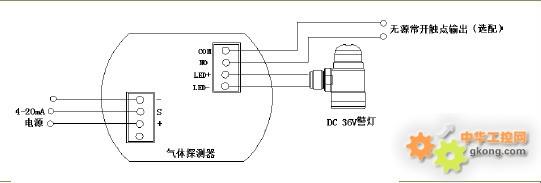 煤气报警仪   a当被检测气体比重大于空气比重时,气体探测器应安装