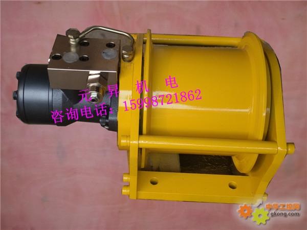 液压马达和壳转传动装置等部件都藏于卷扬机的滚筒中,因而轴向尺寸小