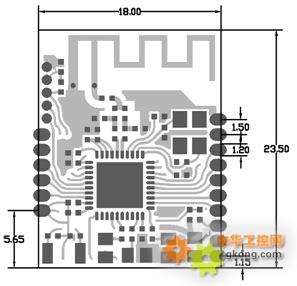 4g无线组网模块 串口收发 多跳   天线:ipex天线接口 3 dl-ln32p 单跳